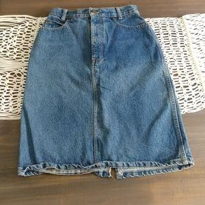 Vintage Calvin Klein denim pencil skirt 2574